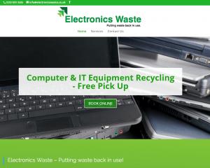 Website Design for Electronics Waster Ltd Glasgow