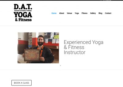 DAT Yoga website design