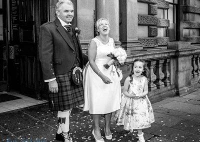 Wedding in Glasgow City Center